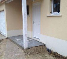 dalle sous porche en beton