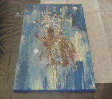 Cadeaux pour le noel de ma maman, pour sa chambre bleu et beige, réalisé par mes soins.
