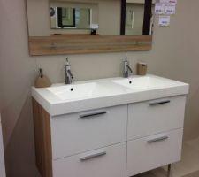 meuble double vasque achete chez mr bricolage
