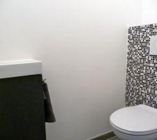 toilettes visiteurs mosaique leroy merlin