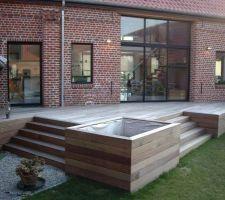 idee terrasse en bois composite sur pilotis