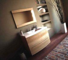 Meuble de notre salle d'eau (modèle Caryns chez Leroy Merlin)