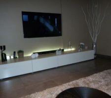 led meuble tv