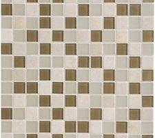 Mosaïque simply beige acheté chez LM pour recouvrir notre bâtit support des toilettes du bas