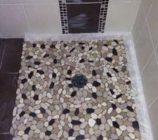 Notre douche à l'italienne carrelée <3