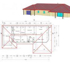 besoin de conseils pour nos plans on nous deconseille de mettre l avancee de toit du garage au meme niveau de faitage que le toit de la maison car la toiture serait trop imposante et pas esthetique ps ne pas faire attention aux colonnes qui ne sont pas encore alignees tous vos conseils seront les bienvenus merci d avance