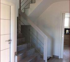 escaliers msw treppen frene blanc inox verre