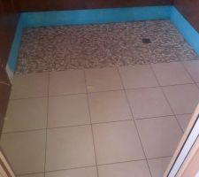 Sol et douche à l'italienne salle d'eau