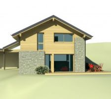 maison ossature bois avec itineraires en maurienne