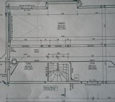 Plan sous sol de la maison, il yaura encore des delimitation pour faire un espace buanderie...