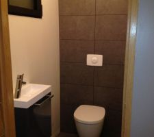 Toilette presque terminé