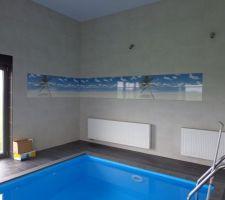 """Décor """"plage"""" de la piscine. 01 /2014"""