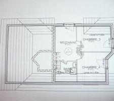 Les chambres des enfants et une salle de douche dont l'emplacement douche et lavabo sera sûrement différent.