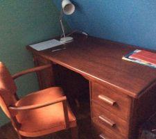 bureau d instituteur ponce teinte fauteuil bridge refait a neuf