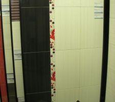 Faïence de la salle de bain du haut - choisi chez Carrelage Dépôt Services.