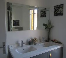 miroir sanijura meuble et plan sur mesure robinets hansgrohe