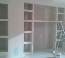 niches et interieur futur placard dur mesure
