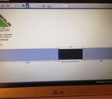 sur le site de leroy merlin simulation du projet portail et mur de cloture version avec mur plein