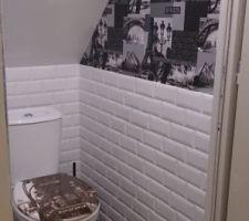 Toilette à l'étage fini !!