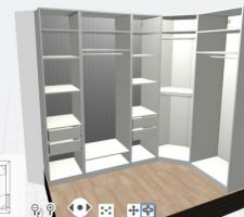 Dressing PAX dans chambre 3 dimensions: 271x169