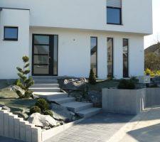 notre maison moderne q bi en alsace projet terrasse en cours