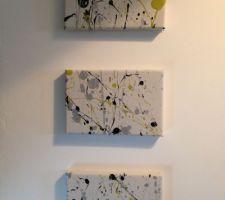 Toiles façon Pollock