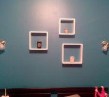 petites finitions spots et decoration de la chambre