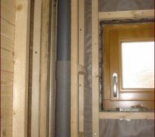 Ossature bois wc avant isolation