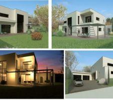 Voici les plans 3D de la maison. On a été bluffé par le rendu! Vive les logiciels d'archi!