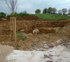 Terrassement : volume de terre issu du sous sol
