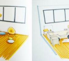 Inspiration chambre enfant - association du bleu et du jaune