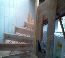 coffrage de l escalier beton pas une mince affaire