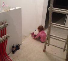 degagement etage avec collecteur plancher chauffant