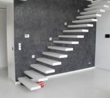 Stucco mur escaliers