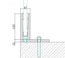 Voici ce que nous aimerions mettre à l'étage au niveau du palier donnant su le vide sur entrée