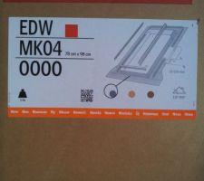 Raccord fenêtre de toit EDW MK04 VELUX, pour fenêtre de 78x98 cm