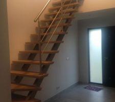 Notre escalier sans les protections...