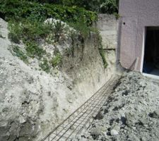 ferraillage en prevision des futurs murs de descente de garage