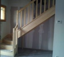 Escalier en bois exotique